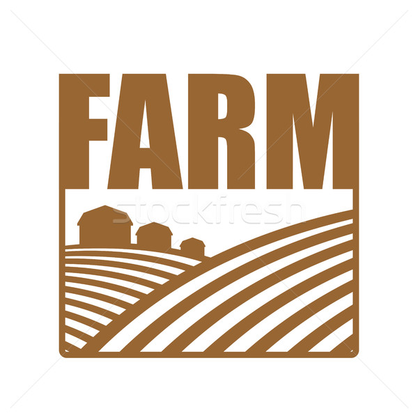 Farm logo. Agriculture sign. Arable land and farm lands Stock photo © popaukropa