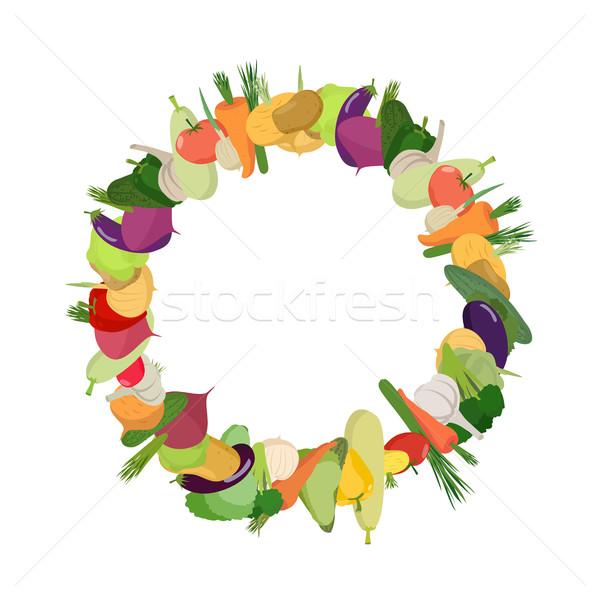 Rahmen Gemüse Ernte vegan Hintergrund Stock foto © popaukropa