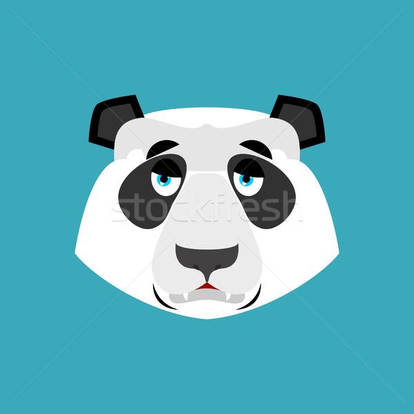 Panda smutne chińczyk ponosi smutek emocji Zdjęcia stock © popaukropa