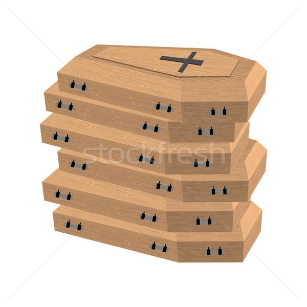 многие мертвых горе крест фон Сток-фото © popaukropa