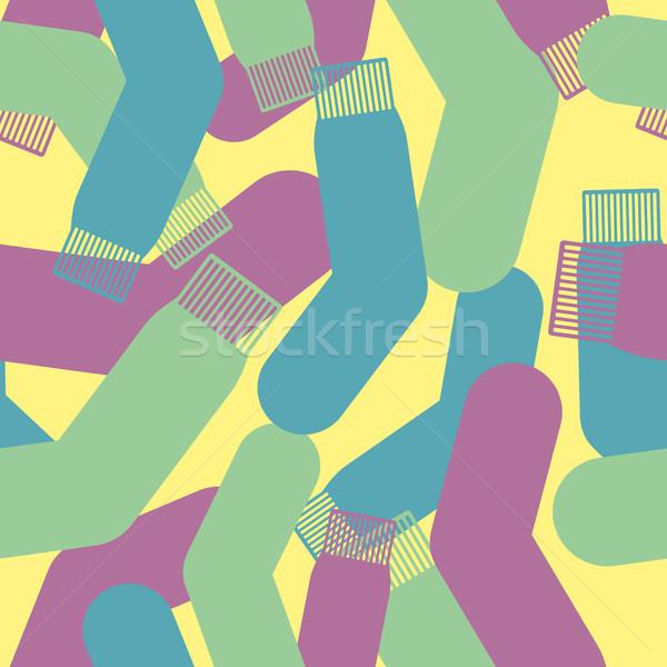 Wojskowych skarpetki tekstury kamuflaż armii Zdjęcia stock © popaukropa