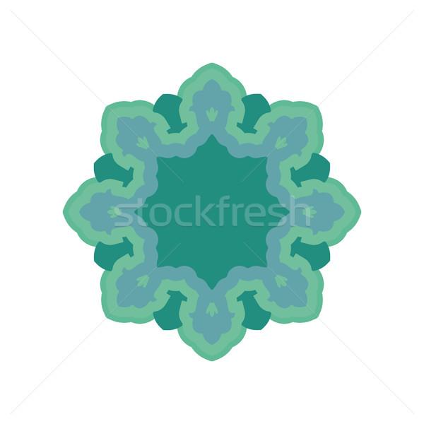 Halal Islamic template symbol. East ornament for emblem. Muslim  Stock photo © popaukropa