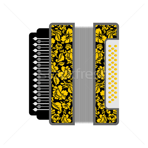 Accordion isolated. Russian National Folk Musical Instruments Stock photo © popaukropa