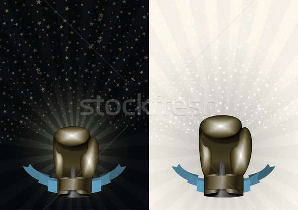 boxing gloves. Template for Championship Awards. boxing Bronze c Stock photo © popaukropa