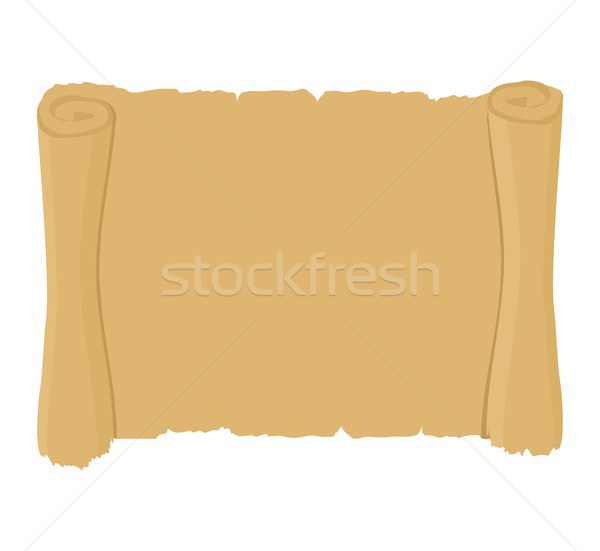Ancient scroll clean. Old blank parchment. Retro paper document. Stock photo © popaukropa