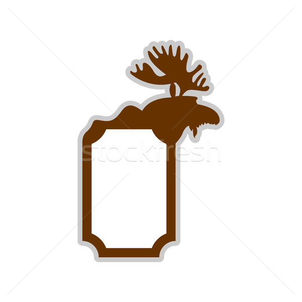 Deer emblem. Moose logo. Animal with horns. Wild animal Stock photo © popaukropa