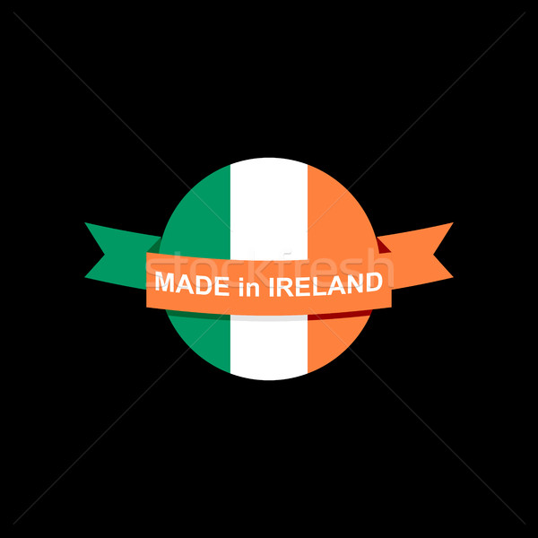 Embléma ír zászló felirat szalag logo Stock fotó © popaukropa