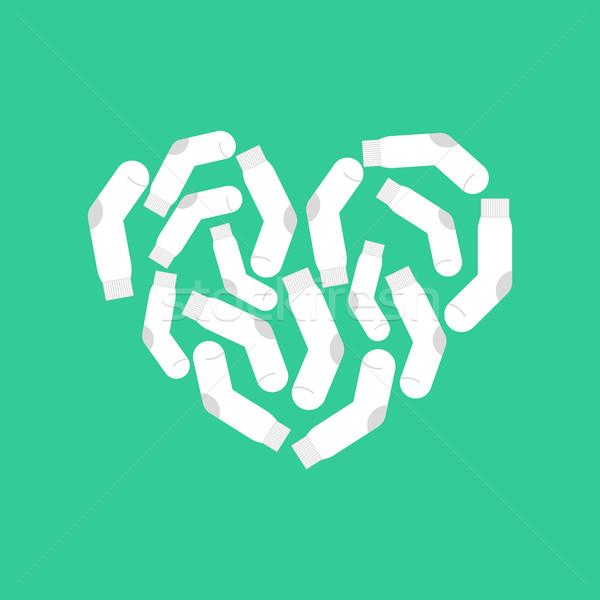 Amore bianco calze cuore clean calzino Foto d'archivio © popaukropa