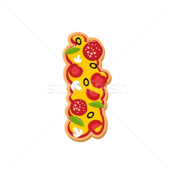 Letter i pizza doopvont Italiaans maaltijd alfabet Stockfoto © popaukropa
