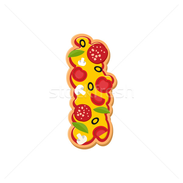 Mektup i pizza İtalyan yemek alfabe Stok fotoğraf © popaukropa