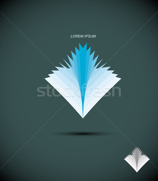 Logo boek abstract icon bibliotheek boekenwinkel Stockfoto © popaukropa