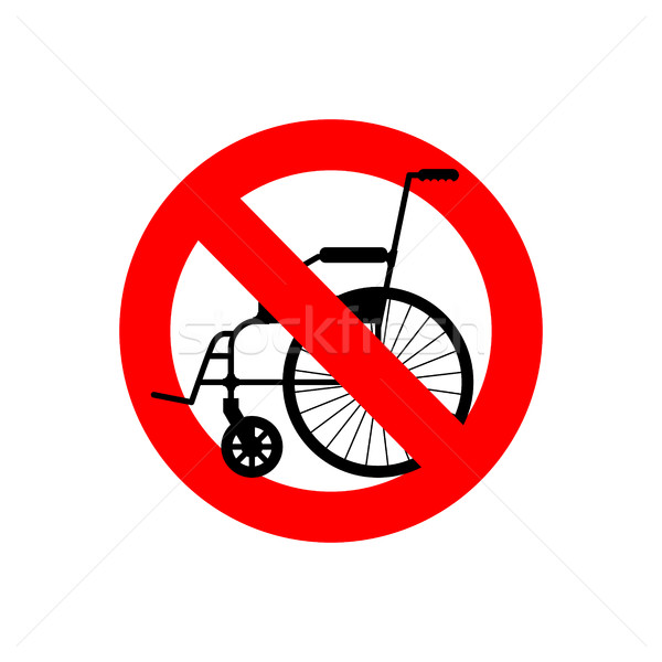 Stop wheelchair. Prohibited disability. Ban for people with disa Stock photo © popaukropa