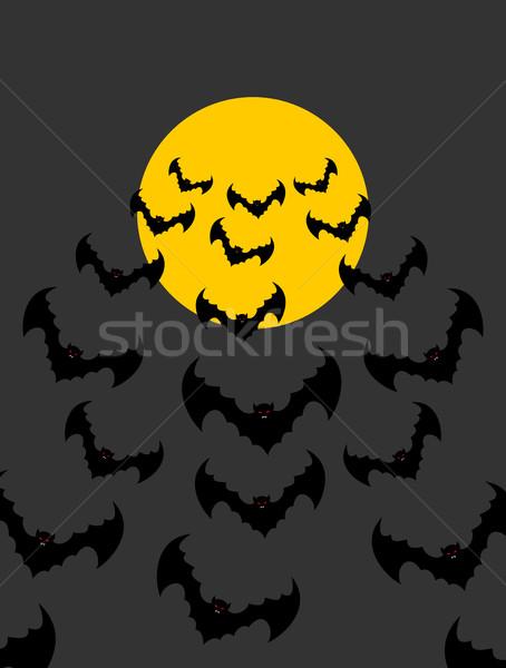 Flying луна Scary Хэллоуин ночь Сток-фото © popaukropa