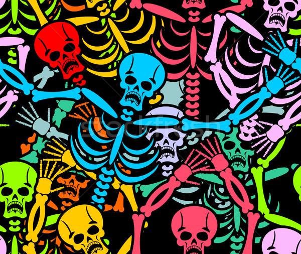 Tag tot mehrfarbig Skelett Ornament Stock foto © popaukropa