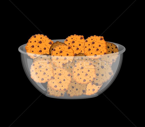 Bolinhos tigela biscoito profundo transparente prato Foto stock © popaukropa