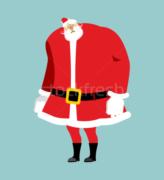 Sad Santa Claus Emoji. sorrowful Santa. grandfather with beard a Stock photo © popaukropa