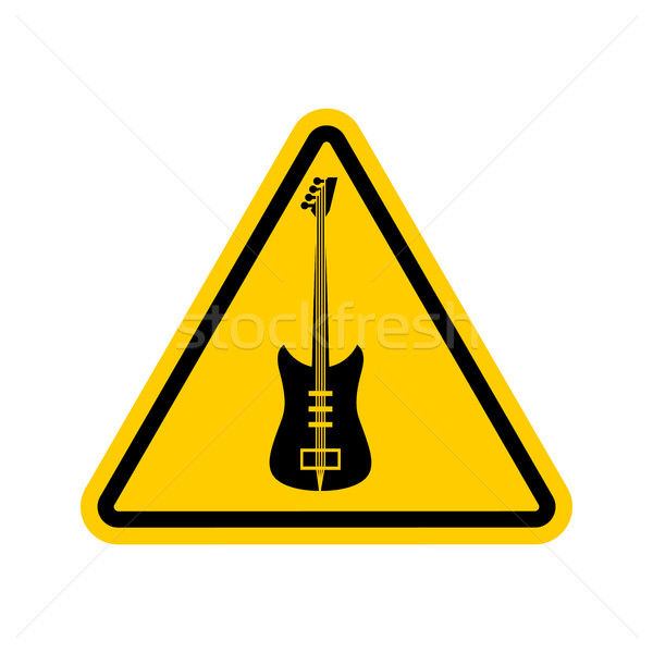 Rock and roll Warning sign. Caution rock music. Danger road symb Stock photo © popaukropa