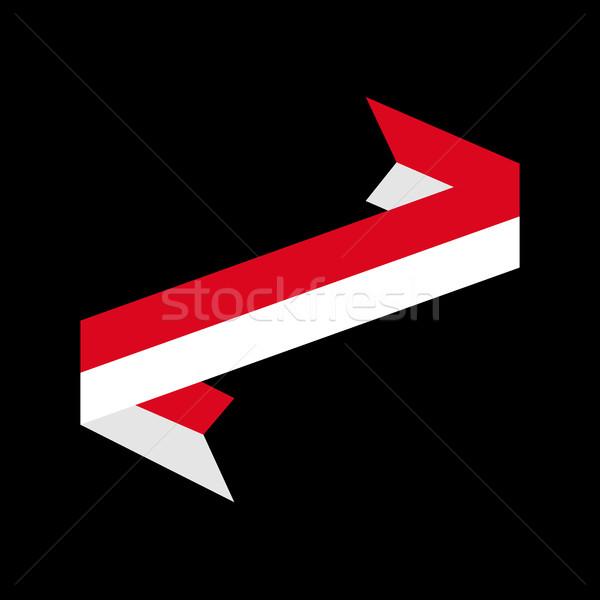 Indonézia zászló szalag izolált indonéz szalag Stock fotó © popaukropa
