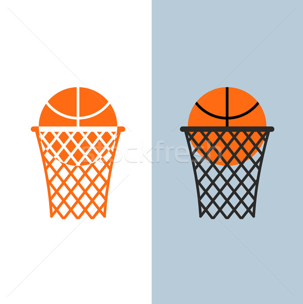 Basketball logo. Ball and net for basketball games Stock photo © popaukropa