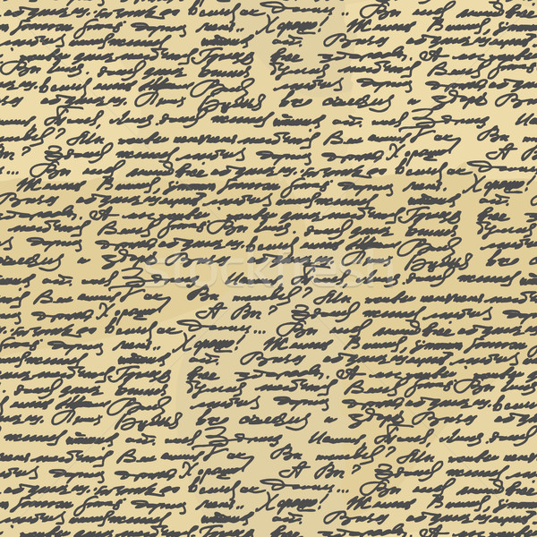 Handwriting seamless pattern. Old Abstract letter. Ancient writi Stock photo © popaukropa