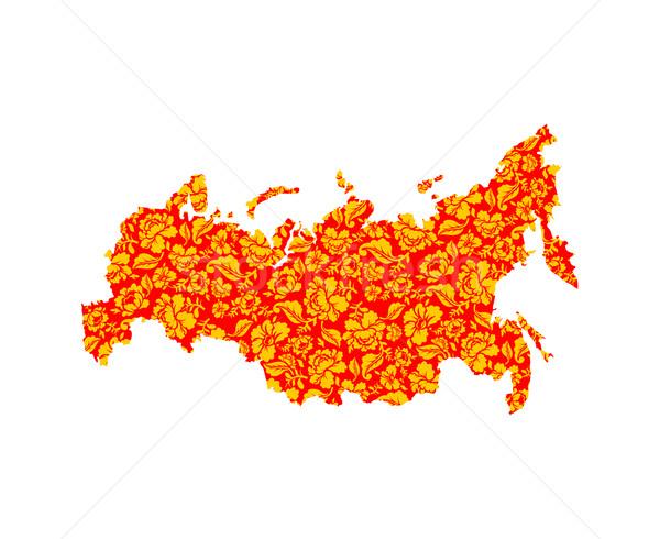 Harita geleneksel boyama rus arazi Stok fotoğraf © popaukropa