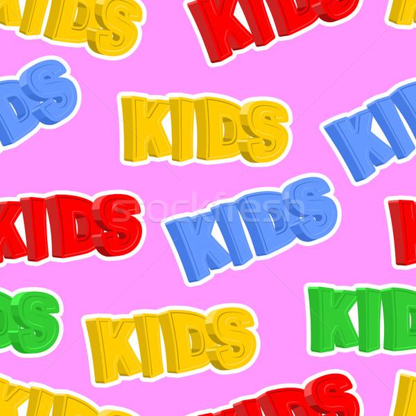 Renkli harfler çocuklar vektör Stok fotoğraf © popaukropa