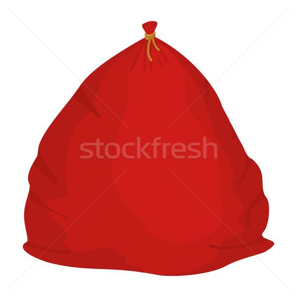 Santa bag with gift. large Christmas sack Red. sackful Gift for  Stock photo © popaukropa