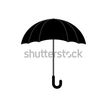 Black umbrella isolated. Accessory of rain on white background. Stock photo © popaukropa