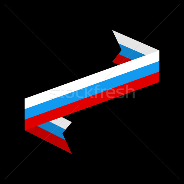 Russia flag ribbon isolated. Russian tape banner. state symbol Stock photo © popaukropa