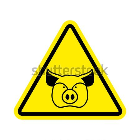 Warning police. Handcuffs on yellow triangle. Road sign attentio Stock photo © popaukropa