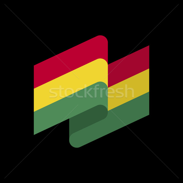 Bolivia flag ribbon isolated. Bolivian tape banner. National sym Stock photo © popaukropa