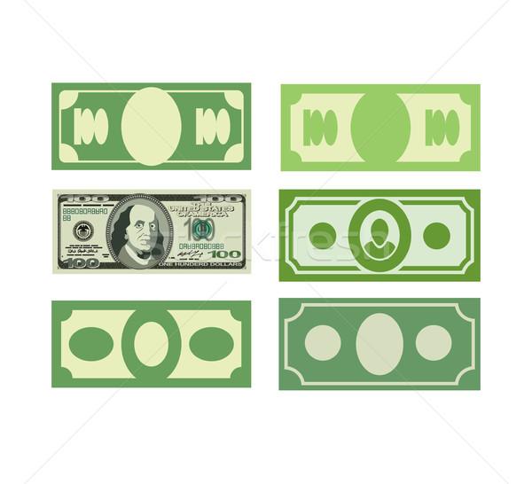 Set Money icon dollars, cash. Various paper money.Vector illustr Stock photo © popaukropa