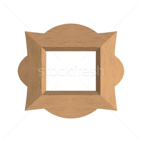Creatieve houten frame lege foto ontwerp Stockfoto © popaukropa