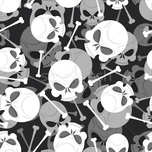 Crânio ossos 3D padrão esqueleto ornamento Foto stock © popaukropa