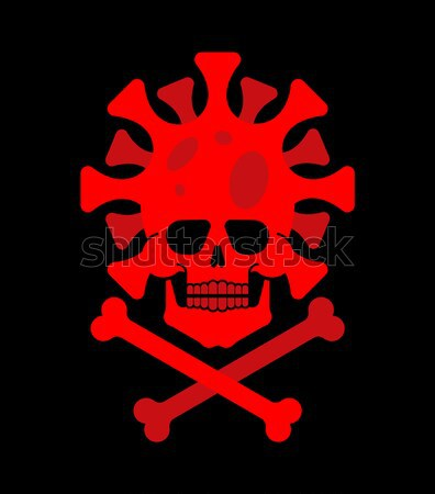 Skull and guns. Head of skeleton and rifles. Military emblem. Ar Stock photo © popaukropa