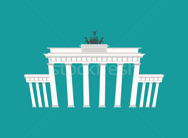Brandenburg Gate, Landmark Germany. Historic architecture buildi Stock photo © popaukropa
