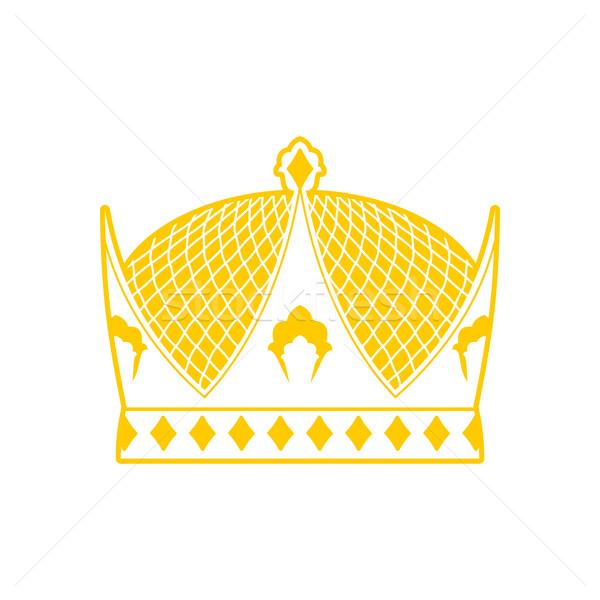 Royal couronne signe roi chapeau souverain Photo stock © popaukropa
