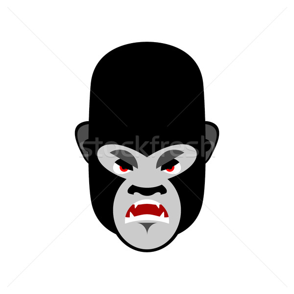 Gorilla angry Emoji. Monkey Evil emotion isolated Stock photo © popaukropa