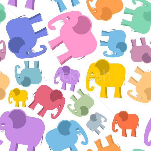 Elefante animales lindos textura bebé Foto stock © popaukropa