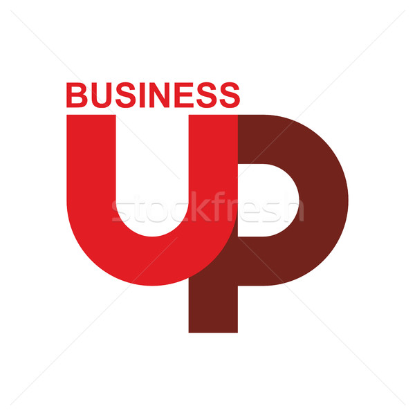 Inizio up logo arrow emblema business Foto d'archivio © popaukropa
