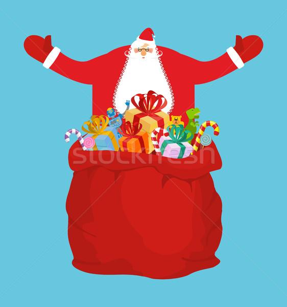 Stok fotoğraf: Hediyeler · Noel · kırmızı · çanta