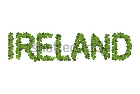 Ireland dlettring. Letters of clover. Irish shamrock Typography Stock photo © popaukropa