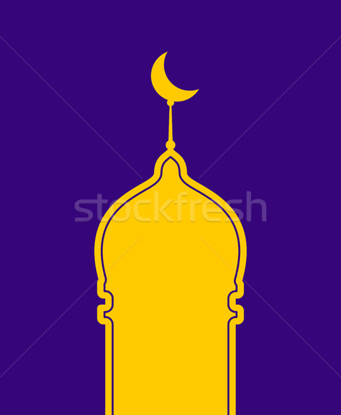Mosque isolated. Arab madrasah. Illustration for Eid Mubarak. Ra Stock photo © popaukropa