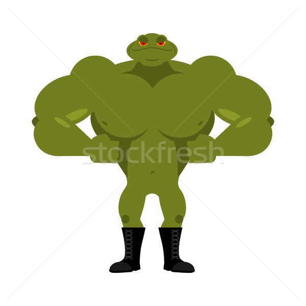 Starken Frosch mächtig unke groß Muskeln Stock foto © popaukropa