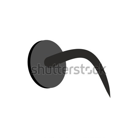 Bent nail isolated. Industrial object. Fastening on white backgr Stock photo © popaukropa
