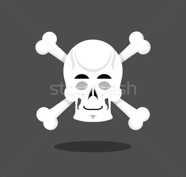 Adormecido crânio emoção fechado olho esqueleto Foto stock © popaukropa