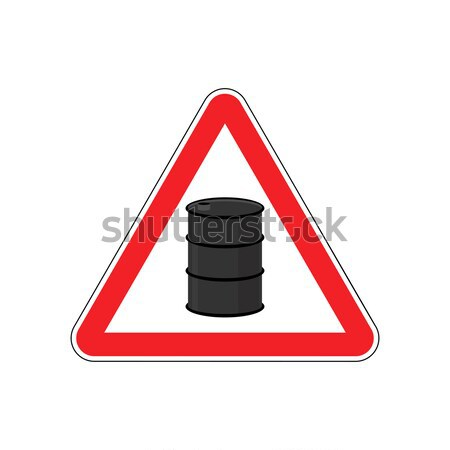 Prohibiting signs Biohazard. Crossed barrel of toxic waste. Vect Stock photo © popaukropa