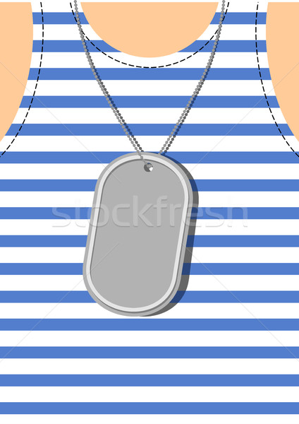 Army Soldier badge on chest. Male torso. Military clothing Stock photo © popaukropa
