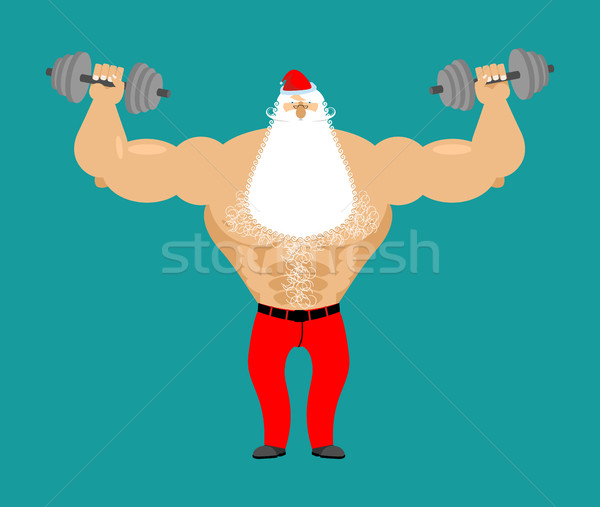 Forte papai noel fitness homem musculação Foto stock © popaukropa