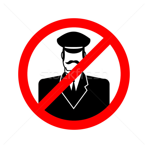 Stop doorman. Red prohibition sign. Ban tip Stock photo © popaukropa